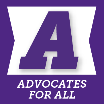 A for advocates for all button
