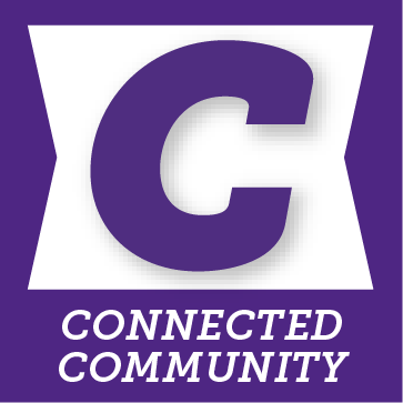 C for connected community button