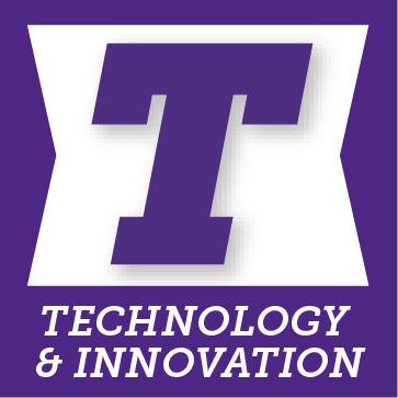 T for technology and innovation button